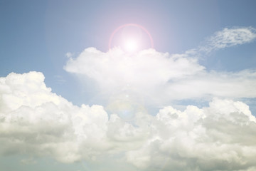 Sky and cloud ,Good weather day background. image is retro filte