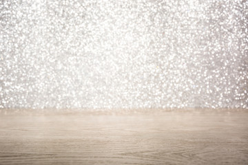 wooden and glitter background