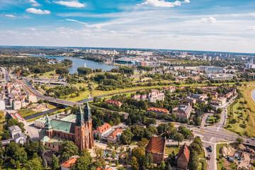 Poznań, Ostrów Tumski z Katedrą z lotu ptaka Fototapete
