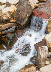 Close - up waterfall stream use for natural background..