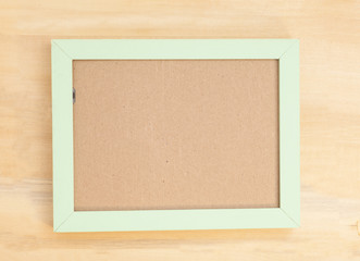 wooden frame on wood background