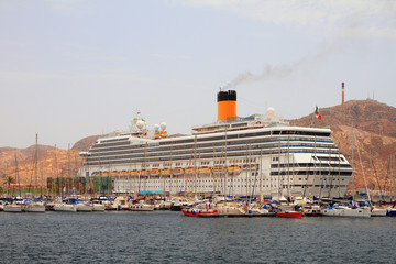 Cruise liner in port. Cartagena, Spain