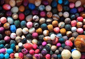 Colorful stone eggs