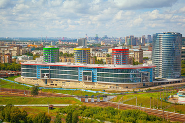 Office buildings in Moscow. Russia, cityscape