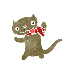 retro cartoon cute cat