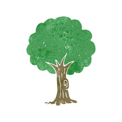 retro cartoon tree