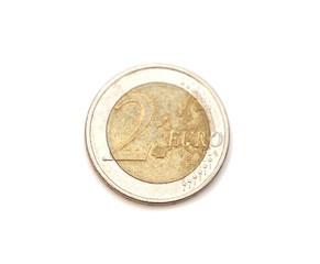 2 euro coin isolated on white background