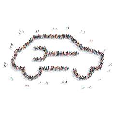 group  people  shape  car
