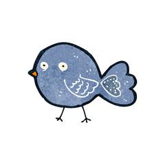 retro cartoon bluebird