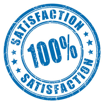 100 satisfaction guarantee stamp