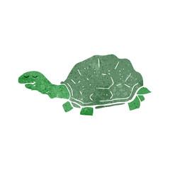 retro cartoon tortoise