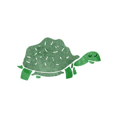 retro cartoon tortoise