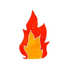 retro cartoon fire