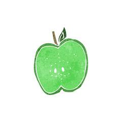 retro cartoon sliced apple