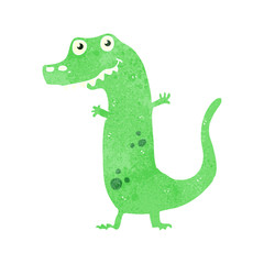 retro cartoon dinosaur