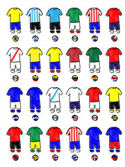 Americas Jerseys Football Kits Pencil Style