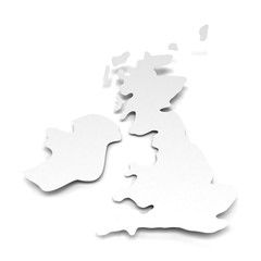Paper map of UK