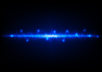 Abstract light blue technology background