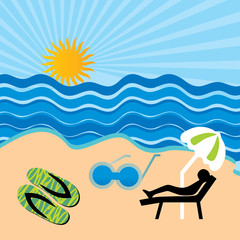 beach concept background vector illustration