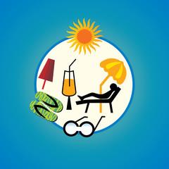 beach concept summer holiday vector illustration