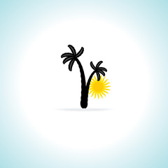 summer concept vector illustration