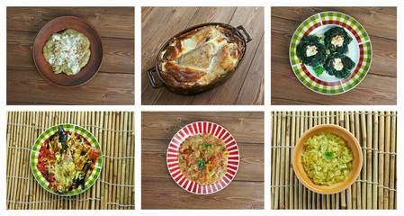 Set oriental cuisine.