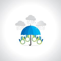creative umbrella concept vector illustration
