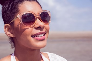 Stylish woman in sunglasses