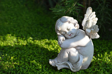 Little angel figurine sleeping