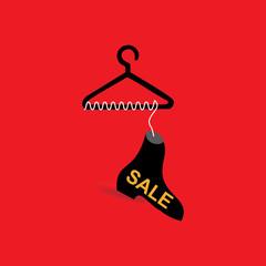 shoe sale concept vector illustration