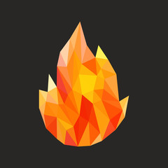 polygon fire flame flames natural and abstract
