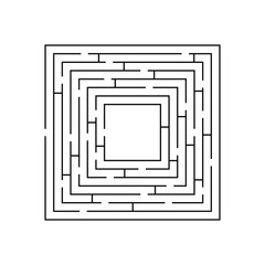 circular maze that is in the form of a square black on white