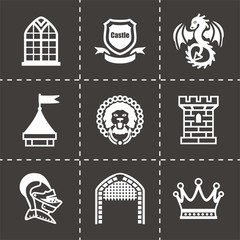 Vector Castle icon set