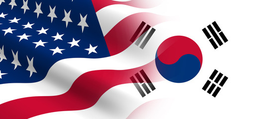 The concept of political relationships the United States with Korea South.