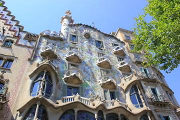 Blick auf das berühmte Casa Batllo von Gaudi in Barcelona