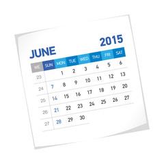 June 2015 American Calendar