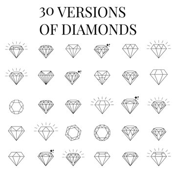 Diamond  icons set