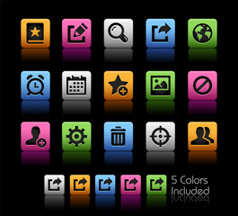 Communication Interface Icons // ColorBox Series -- The Vector file includes 5 color versions for each icon in different layers --