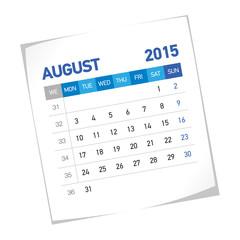 August 2015 European Calendar