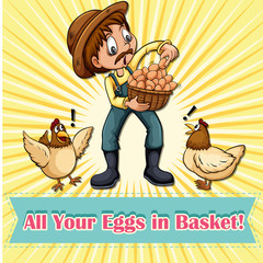 All your eggs in one basket idiom
