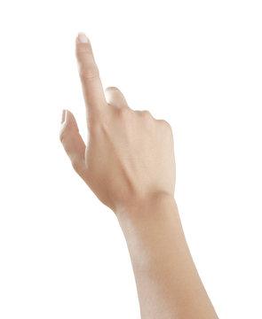 Frauenfinger zeigt nach oben