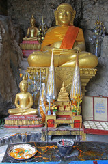 chancel of buddhist temple in Luang Prabang