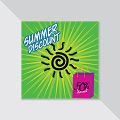 summer offer with discount vector illustration