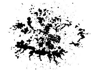 abstract splatter black color  background,illustration isolate