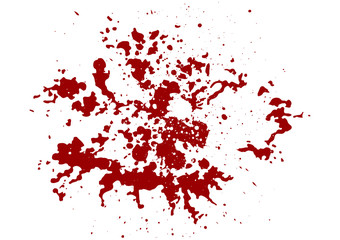 abstract splatter red color  background,illustration isolate