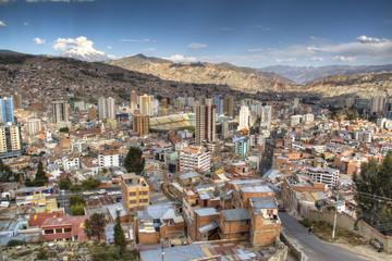 View over the city of La Paz, Bolivia