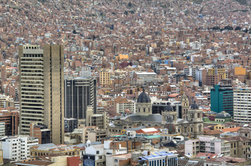 View over the city of La Paz, Bolivia
