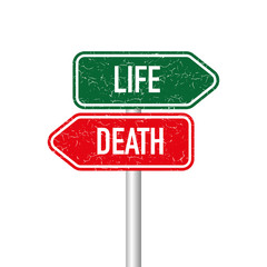 Life and death signpost