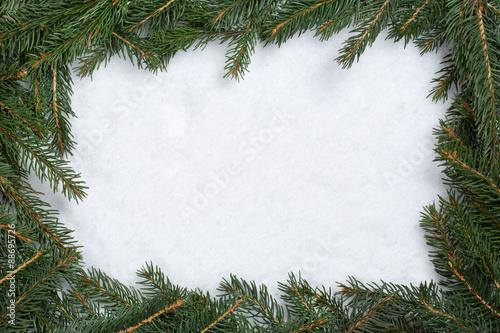weihnachten rahmen hintergrund mit tanne tannenzweige schnee u stockfotos und lizenzfreie. Black Bedroom Furniture Sets. Home Design Ideas