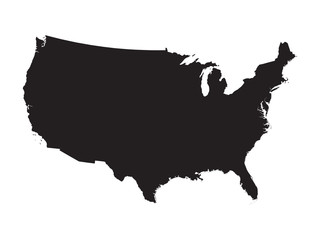 black map of United States Fototapete